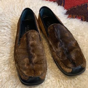 Vintage 70s Gucci Calf Hair Loafers / Flats 8B